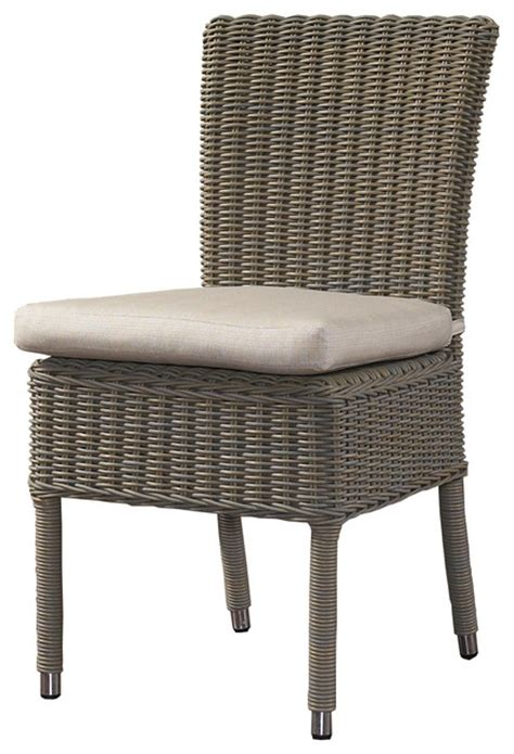 outdoor boca chair with white outdoor cushion