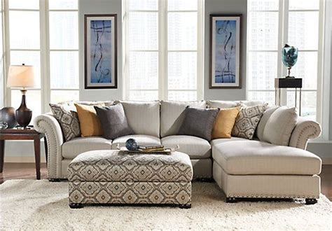 waverly park beige  pc sectional living room sectional