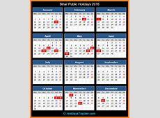 Bihar Public Holidays 2016 – Holidays Tracker