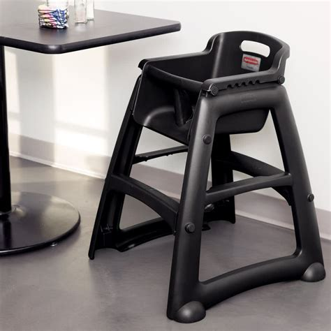 rubbermaid fg781408bla black sturdy chair restaurant high
