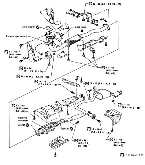 92 240sx Engine Diagram by Repair Guides Exhaust System Front Pipe Autozone
