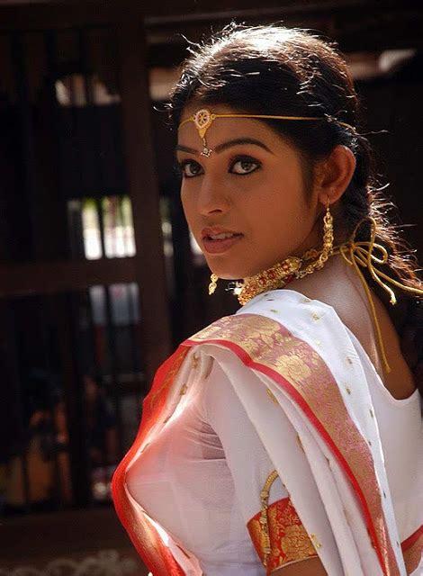 Kollywood Actress Prathista Spicy White Saree Hot Stills