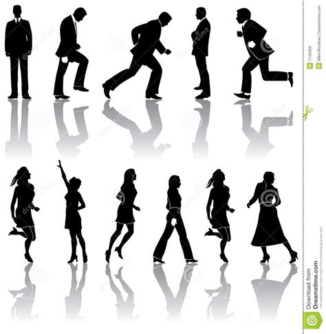 male  female silhouettes royalty  stock images