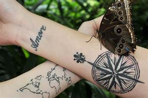 travel tattoos map compass - Seattle's Travels