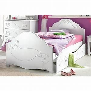 Lit Blanc 1 Personne : lit enfant 1 personne parisot allice blanc autres mobilier 3suisses ~ Teatrodelosmanantiales.com Idées de Décoration