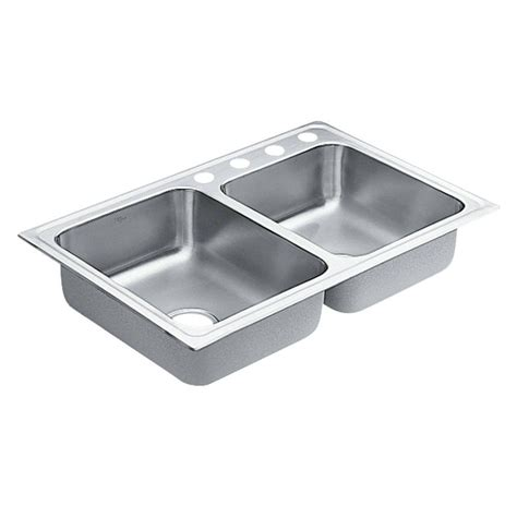 14 stainless steel kitchen sink moen 1800 series drop in stainless steel 33 in 4 8964