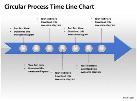 business powerpoint templates circle process time