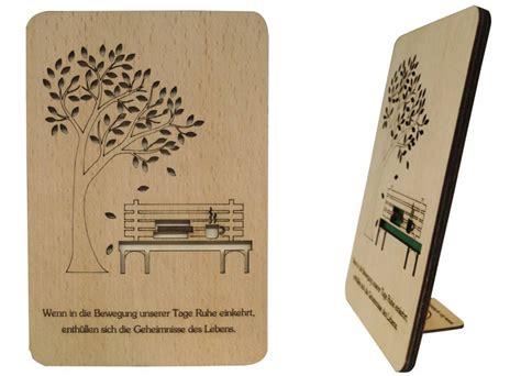 grusskarte aus holz parkbank und ruhe pop  karten von