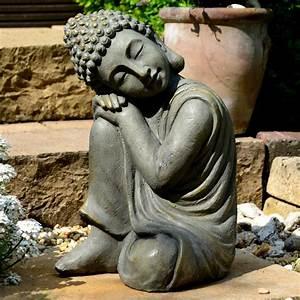 Statue Bouddha Interieur : impressionnant statue bouddha exterieur pour jardin 7 bouddha statuette chinois 43 cm ~ Teatrodelosmanantiales.com Idées de Décoration