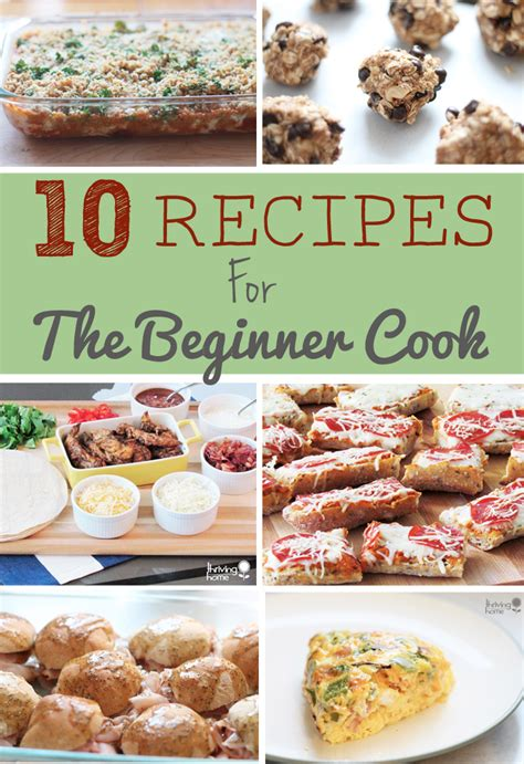 recipes easy beginner cook cooking beginners simple recipe dinner freezer thrivinghomeblog meal healthy novice anyone food chef picked these hand