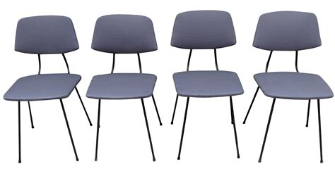 chaises vintage annees 50 4 chaises rudolf wolf gris souris 233 es 50 furniture