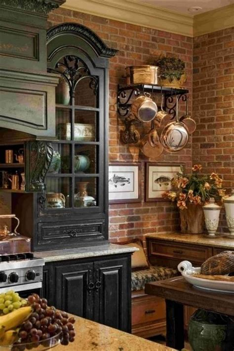 country rustic kitchens distressed black kitchen cabinets in rustic kitchen style 2959