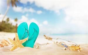 Images Starfish Flip-flops Beach Sand Bottle 2880x1800