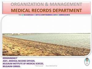 organization management of mrd part 3 With medical documents management