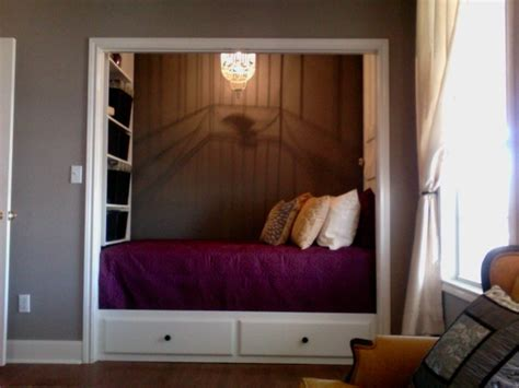 captain s style bed in the closet storage shelves and