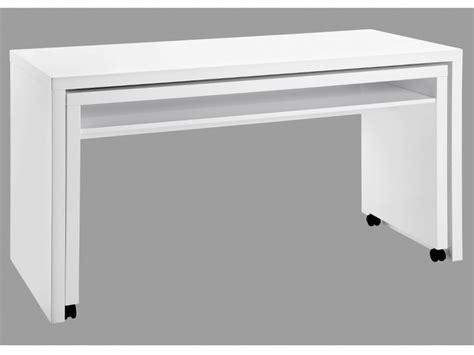 bureau ordinateur blanc laqué bureau amovible stephen mdf laqué coloris blanc