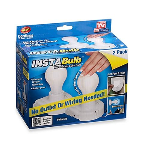 light bulb and battery store insta bulb battery operated light bulb in 2 pack bed
