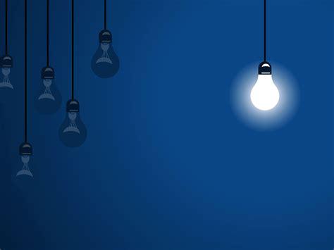 blue bulbs design powerpoint templates arts black blue