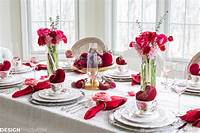 valentine s day decorating ideas Valentine's Day Decorations: Plush Velvet Hearts Tablescape