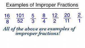 What is an Improper Fraction? - Definition & Example ...
