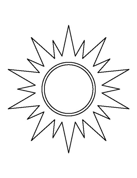 Sun Template Best Sun Outline 1530 Clipartion