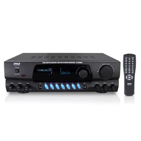 digital radio receiver test pyle 200w lifier digital am fm stereo radio receiver w two mic inputs ebay