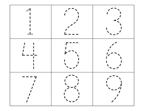 Trace Numbers 1-10