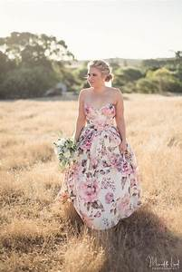 20 floral wedding dresses that will take your breath away for Patterned wedding dress
