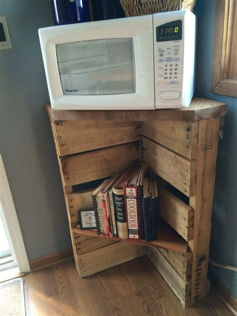 kitchen microwave cabinet stand corner microwave cabinet pallet microwave stand and cookbook shelf or possibly use