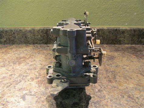 Johnson Evinrude Carburetor Set W/ Manifold 1973 65 Hp
