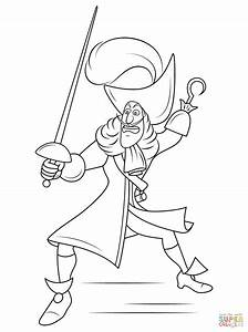Disney Captain Hook coloring page | Free Printable ...
