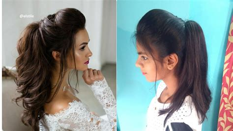 perfect high ponytail  puff messy ponytail