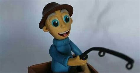 Man In Fishing Boat Cake Topper by Old Man Fishing In Boat Cake Topper Made With Homemade