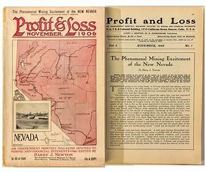 """Profit & Loss"" Magazine (November 1906 Issue) feat ..."
