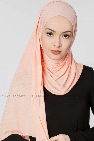 hijab jersey seda salmon stretch jersey shawl  ecardin