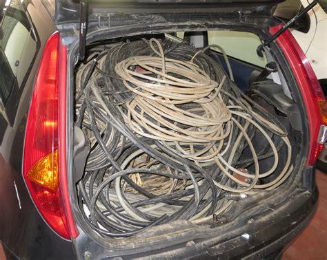 fabbrica di ladari schio ladri alla fabbrica alta recuperati 250kg di cavi