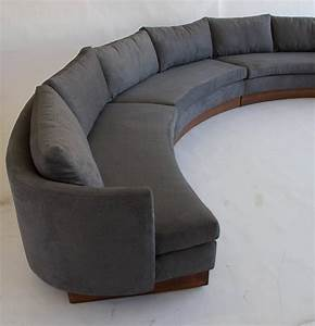 Custom semi circular sectional by carson39s of north for Sectional sofas north carolina