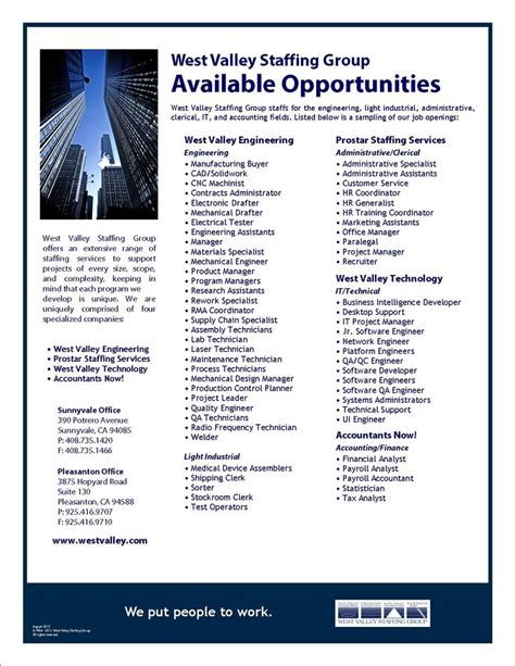 Jobsearch Resume by Now Hiring Check Out Our Current Available Opportunities