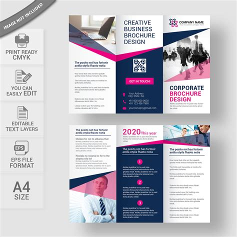 trifold poster template free publisher tri fold brochure free vector download print ready