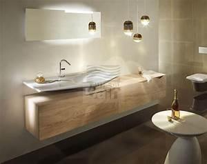 meubles de salle de bains suspendus simple vasque With salle de bain design avec vasque en pierre à poser salle de bain