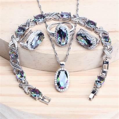 Jewelry Sets Necklace Earrings 925 Bracelets Cz