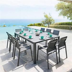 Table De Jardin : table de jardin extensible s ville graphite hesp ride 10 places ~ Teatrodelosmanantiales.com Idées de Décoration