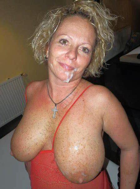 mature cum facial naked photo