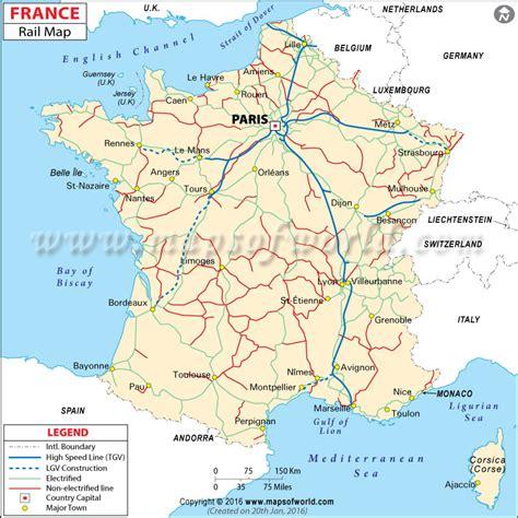 france rail map railway map  france
