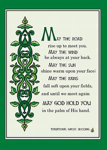 """""""May the Road Rise up to Meet You, Irish Blessing"""" by"""