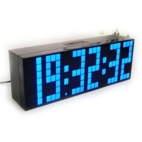 digital large big number jumbo led clock gadgets matrix