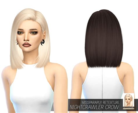 Sims 4 Hairs  Miss Paraply Nightcrawler`s Crow Hair