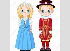 Traditional clipart national costume Pencil and in color