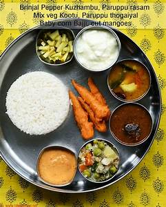 South Indian lunch ideas - Lunch menu 54 - Raks Kitchen