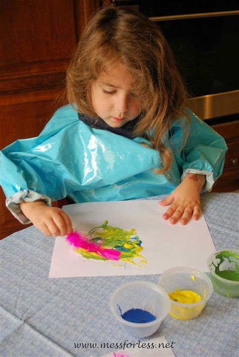 painting with feathers make a great toddler and preschool 830 | 15612bc866e86813eb0c80454fa465d9